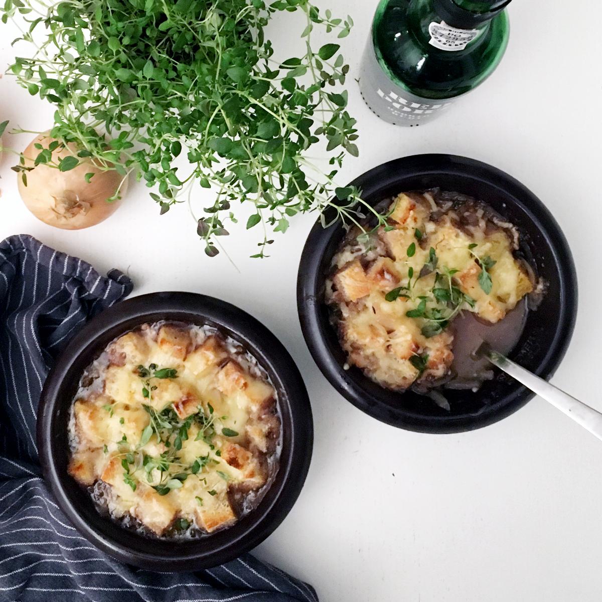 Gratinerad löksoppa – billigt och gott!