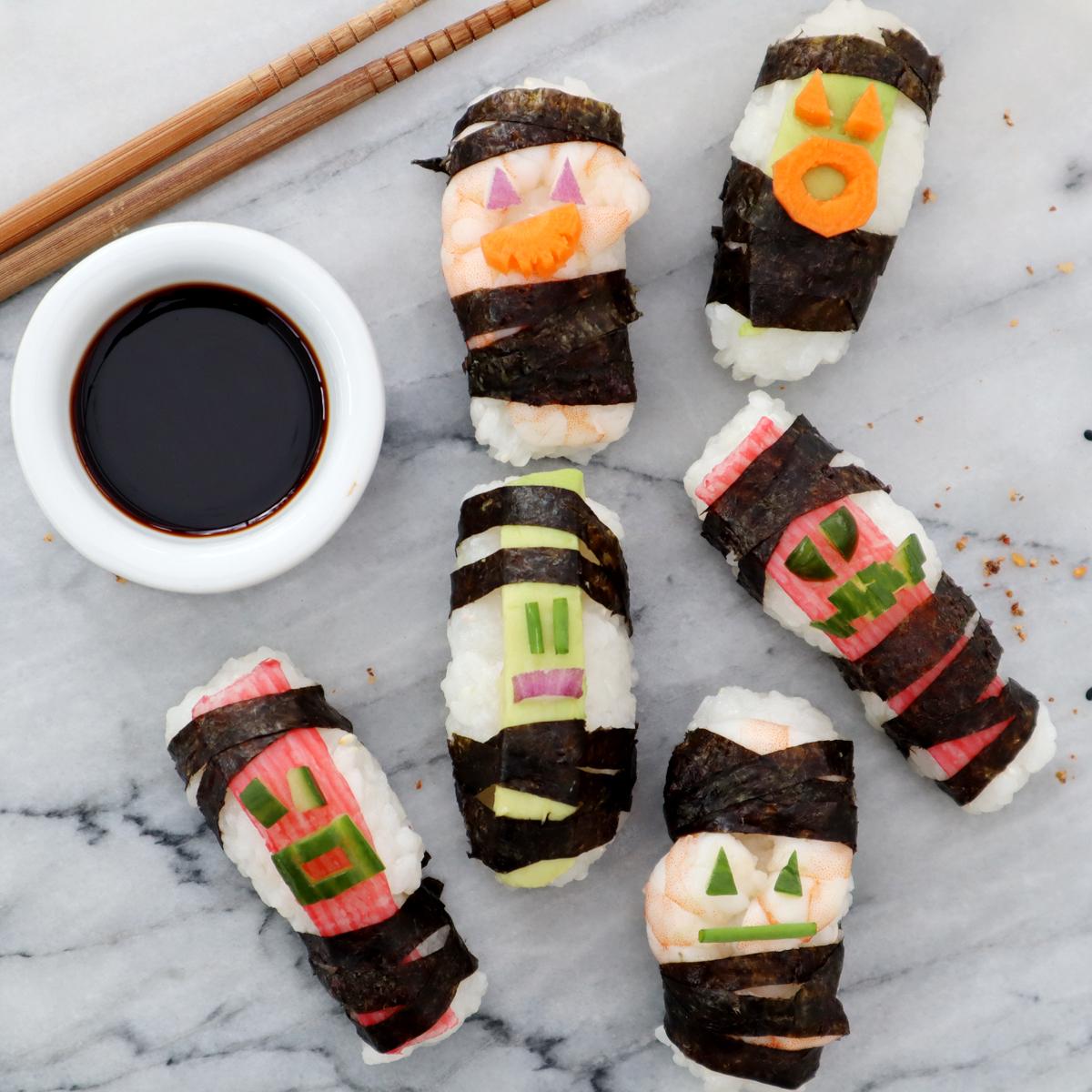 Tips till Halloween: Mumie-sushi!